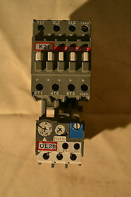 ABB A30-30-10 Contactor, 220-240V Coil, ABB TA25 24-32A Overload Relay
