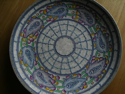 Charlotte Rhead Persian leaf charger - plate - wall plate Rare