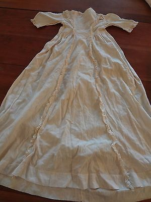 antique vintage Edwardian cotton pique baby or doll christening gown dress