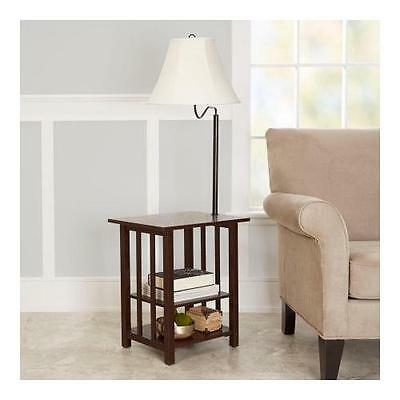 Better Homes and Gardens 3-Rack End Table Floor Lamp, CFL Bulb Included