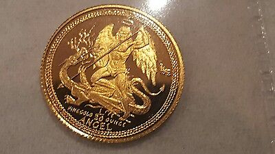 1990 Gold Proof 1/20 oz ounce Isle of Man Angel coin