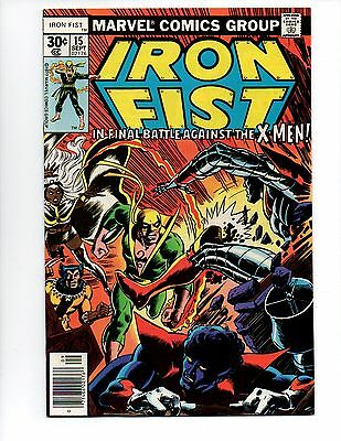 "Iron Fist #15 (Sep 1977, Marvel) VF/NM 9.0 ""X-MEN APP. BYRNE-A"""