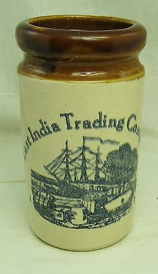Antique Vintage East India Trading Company Stoneware Spice Jar