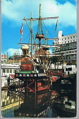 Photo Precision Postcard The Golden Hind At Southend C1970's