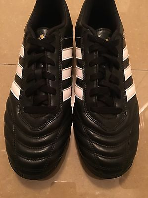 Adidas Astro- Turf Trainers  Black And White Stripes Size 8