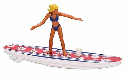 WIND UP SURFER Water Toy Bath Surfing Ron Jon Surf Bikini Girl Boy Surfboard NEW