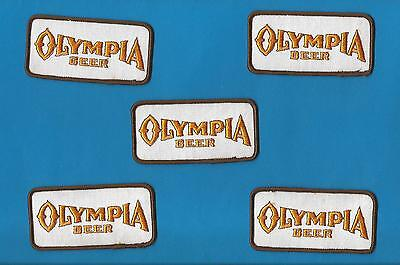 5 Lot Olympia Oly Beer Sew On Employee Iron On Jacket Trucker Hat Patches B