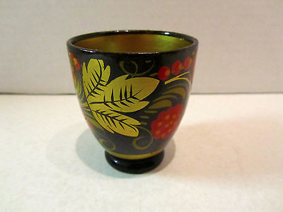 Vintage Russian Laquered Hand Painted SMALL CUP