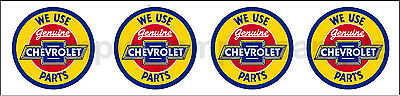 (4) 1.25 Inch Chevrolet Parts Model Diorama  Decal Sticker Several Sizes Avail R