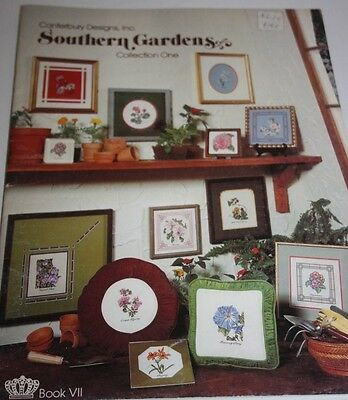 SOUTHERN GARDENS Collection One Canterbury Designs Cross Stitch booklet