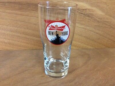Budweiser New York City Statue Of Liberty Pint Glass Set of 1 NEW Glass Rare