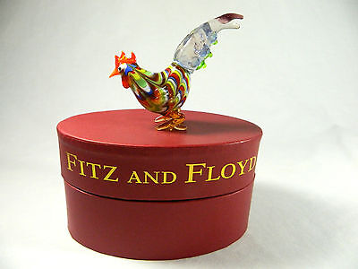 """Fritz & Floyd/Glass Menagerie/ Rooster/2003/New in Box/ 43/103 Made/4"""" Tall"""