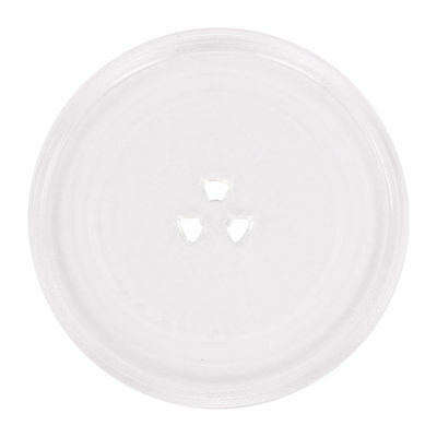 """Universal 245mm 3 Pip Fixings Microwave Oven Glass Turntable Plate Dish 9.75"""""""