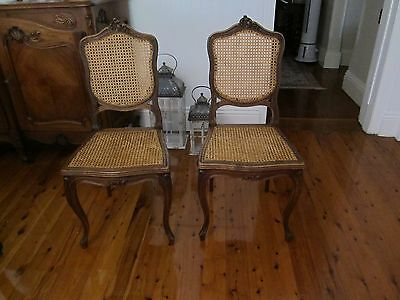 6 French dining chairs vintage