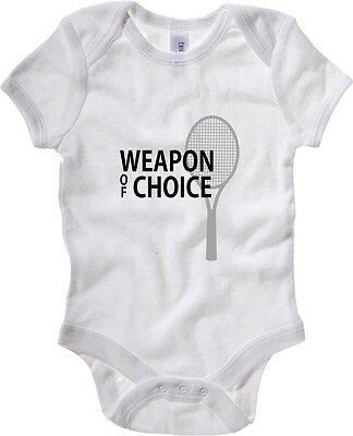 Baby Bodysuit T0938 tennis weapon of choice sport