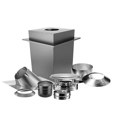 Fire Safe 6 In Triple-Wall Basic Through-The-Ceiling Chimney Stove Pipe Vent Kit