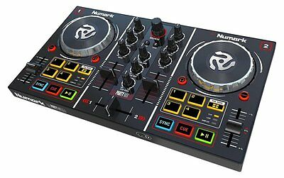 Numark 2 deck DJ controller mirror ball with  Virtual DJ LE included Party Mix