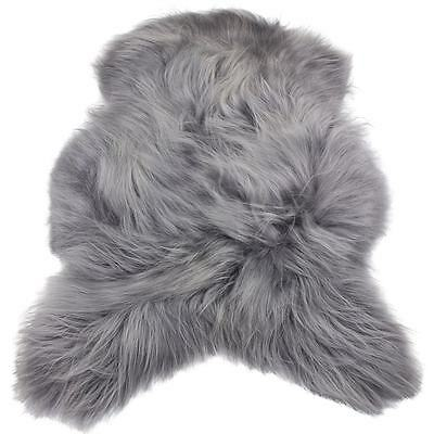 Grey Silver Iceland Genuine Sheepskin Rug Extra Thick 43''  Large / Real / 100%