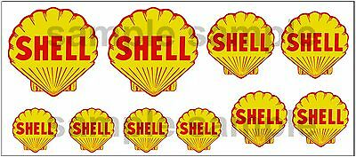 1:43 O Scale Shell Sign Boxcar Gas Station Tanker Truck Diorama Decals