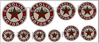 1:43 O Scale Texaco Sign Boxcar Gas Station Tanker Truck Diorama Decals B