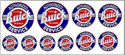 1:43 O Scale Buick Service Sign Boxcar Garage Building Truck Diorama Decals