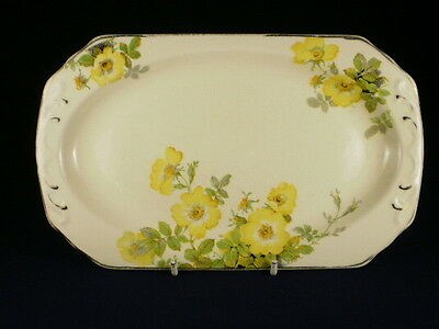 Imperial Ware Yellow Wild Rose Small Sandwich Tray