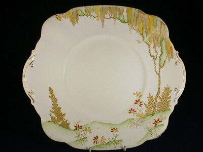 Standard China Trees & Flowers Cake Plate