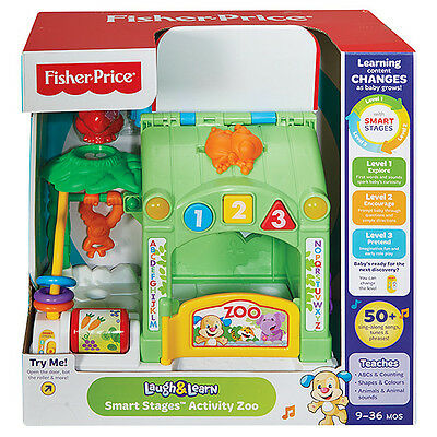 Fisher Price Laugh & Learn Smart Stages Activity Zoo 30+ Songs & Tunes Cgv76