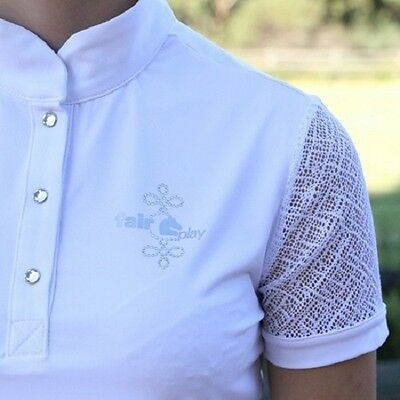 New!! Fair Play Cecile Ladies Competition Shirt In White