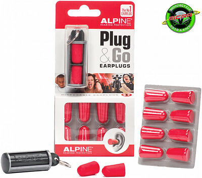 Alpine Plug & Go Motorcycle Foam Ear Plugs - 5 Pairs and Container