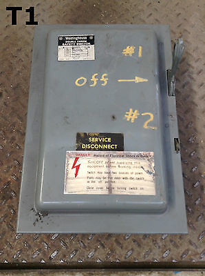 Westinghouse GU-321 30A Double Throw Safety Disconnect Switch 240VAC