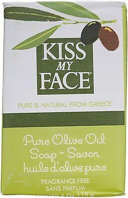 Pure Olive Oil Bar Soap, Kiss My Face, 3 Bars