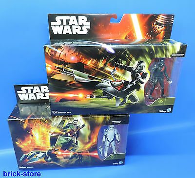 HASBRO STAR WARS / B3718 / B3718 / 2x Stormtrooper plus speederBike und Walker