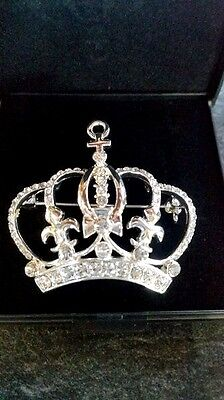 New!! Designer Stock Pin Genuine Swarovski Crystals - Crown
