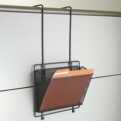 Safco Onyx Panel Organizer Basket in Black Transitional Office Panels
