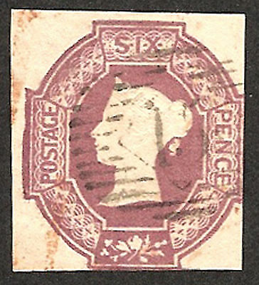 1847-54 SG59 6d Dull Lilac 3 MARGINS USED