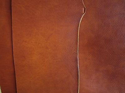 3.6mm THICK VINTAGE LOOK COWHIDE LEATHER SADDLE TAN for leather-craft, embossing
