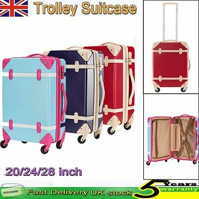 Hard Shell 4 Wheeled Spinner Suitcases Set Luggage Trolley Case Cabin Travel Bag