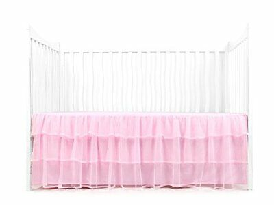 Tadpoles Triple Layer Tulle Crib Skirt in Pink, New