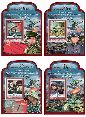 DJIBOUTI 2016 ** WWII Battle of Moscow Schlacht um Moskau 4S/S #413d