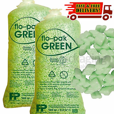 30 Cubic Ft Bag of FLOPAK Loose Fill Packing Peanuts Starch OFFER