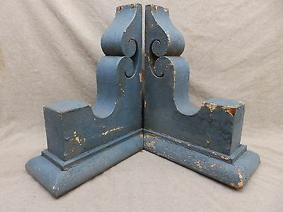 Antique Pair Wood Corbels Brackets Victorian Gingerbread Shabby Old Chic 96-17R