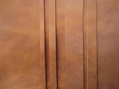 132cm LONG BUFFALO LOOK TAN 3mm cowhide LEATHER STRAP VARIOUS WIDTHS