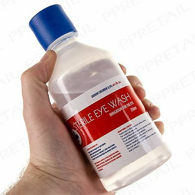 250ml STERILE SALINE Eye Wound Wash Solution Bottle First Aid Replacement/Refill