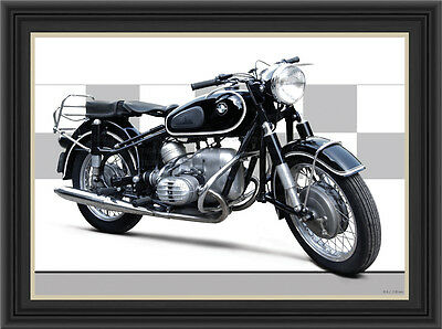 Bmw R60 1959 Motorcycle Print / Classic Motorcycle Poster
