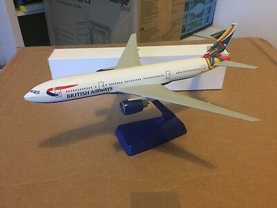 British Airways Boeing 777-200 Celtic World Tail 1:250 Scale Wooster RARE