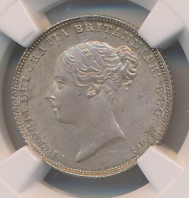 Great Britain Victoria Sixpence 1855 - NGC MS 65 Wings