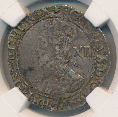 Great Britain Shilling (1640-41) S-2799 Charles I - NGC XF 40