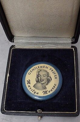 Gentlemen Prefer Marilyn Monroe Pin | Original 1956 Pin With Carrying Case