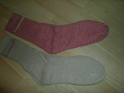 Two X Pairs Mens Walking Hiking Socks Campris Uk 7--11 Speckled Red /grey